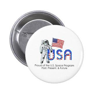 TEE U.S. Space Program 2 Inch Round Button