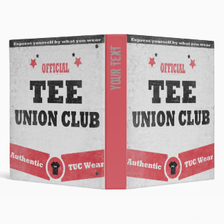 Tee Union Club (TUC) Vinyl Binder