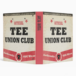 Tee Union Club (TUC) Binders