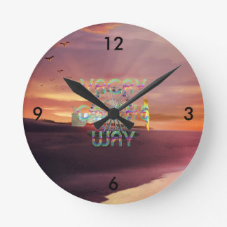TEE Vacay Round Clock