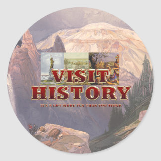TEE Visit History Classic Round Sticker