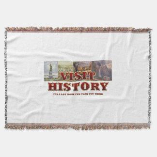 TEE Visit History Throw Blanket
