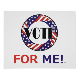 TEE Vote For Me Poster