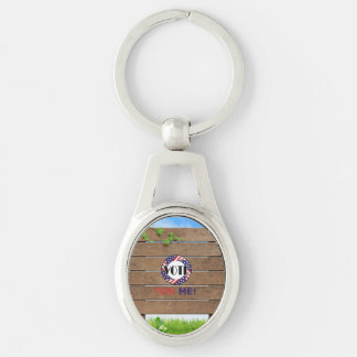 TEE Vote for Me Silver-Colored Oval Keychain