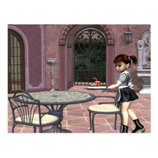 TEE Waitress With Attitude Postcard