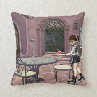 TEE Waitress With Attitude Throw Pillow