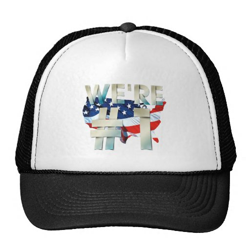 TEE We're Number One USA Mesh Hats