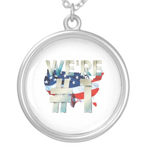 TEE We're Number One USA Necklace