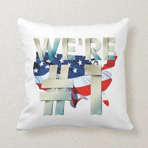 TEE We're Number One USA Pillows