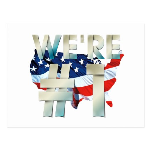 TEE We're Number One USA Post Card