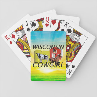 TEE Wisconsin Cowgirl Playing Cards