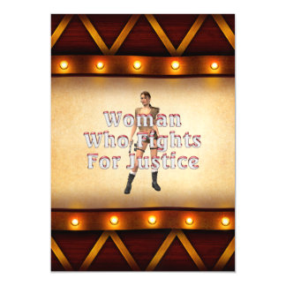 TEE Woman Justice Magnetic Invitations