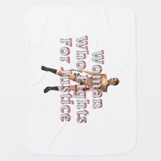 TEE Woman Justice Stroller Blanket