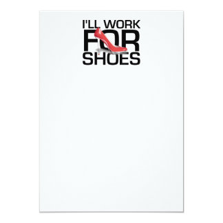 """TEE Work for Shoes 5"""" X 7"""" Invitation Card"""