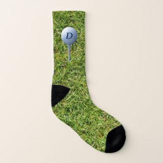 Teeing Off Green Grass Funny Golfing Socks