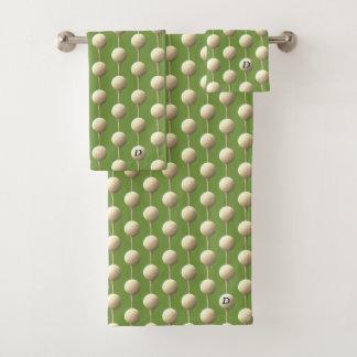 Teeing Off Monogram Golf Ball Golfing Towel Set