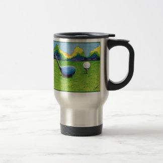 teeing up travel mug