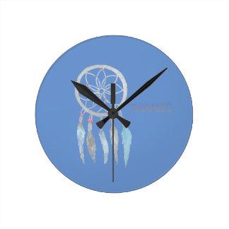 Teen Dreamcatcher Round Clock