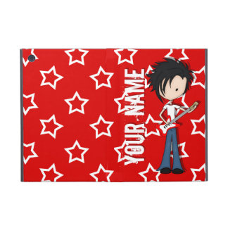 Teen Emo Boy Rock Guitarist with Black Hair Cases For iPad Mini
