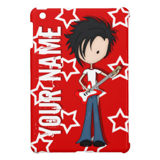 Teen Emo Boy Rock Guitarist with Black Hair Cover For The iPad Mini