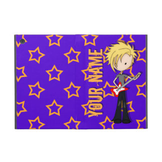 Teen Emo Rock Guitarist Musician with Blonde Hair iPad Mini Covers