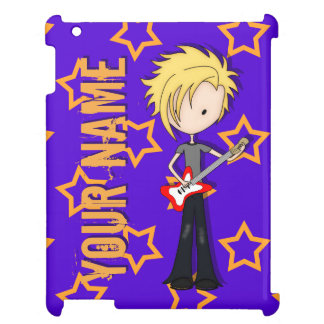 Teen Emo Rock Guitarist Musician with Blonde Hair Cover For The iPad 2 3 4