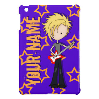 Teen Emo Rock Guitarist Musician with Blonde Hair iPad Mini Case