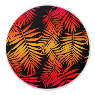 Teen Girls Women's Decor Tropical Palm Tree Leaf Ceramic Knob