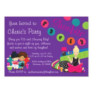 TEEN SLUMBER PARTY CARD