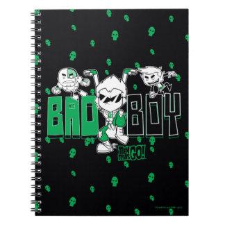 "Teen Titans Go!   ""Bad Boy"" Robin, Cyborg, & BB Spiral Notebook"