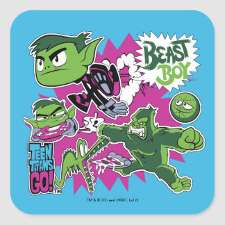 Teen Titans Go! | Beast Boy Shapeshifts Square Sticker