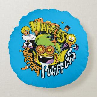 Teen Titans Go! | Beast Boy Waffles Round Pillow