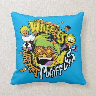 Teen Titans Go! | Beast Boy Waffles Throw Pillow