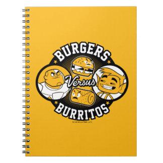 Teen Titans Go!   Burgers Versus Burritos Notebooks