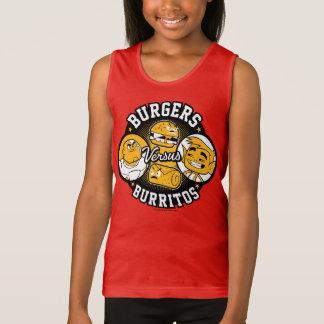 Teen Titans Go! | Burgers Versus Burritos Tank Top