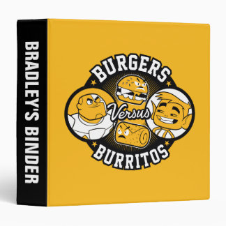 Teen Titans Go!   Burgers Versus Burritos Vinyl Binder