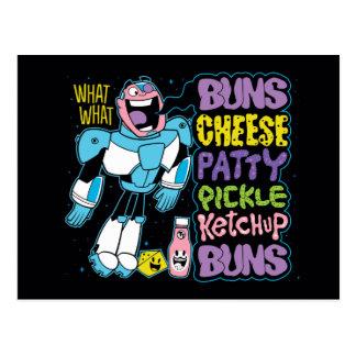 Teen Titans Go!   Cyborg Burger Rap Postcard