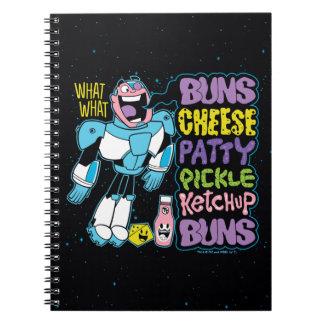 Teen Titans Go!   Cyborg Burger Rap Spiral Notebook