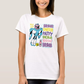 Teen Titans Go!   Cyborg Burger Rap T-Shirt