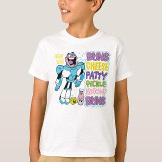 Teen Titans Go! | Cyborg Burger Rap T-Shirt