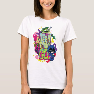 "Teen Titans Go!   ""Girls Girls"" Animal Print Logo T-Shirt"