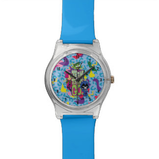 "Teen Titans Go! | ""Girls Girls"" Animal Print Logo Watch"