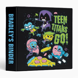Teen Titans Go! | Gnarly 90's Pizza Graphic 3 Ring Binder