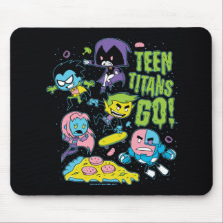 Teen Titans Go! | Gnarly 90's Pizza Graphic Mouse Pad