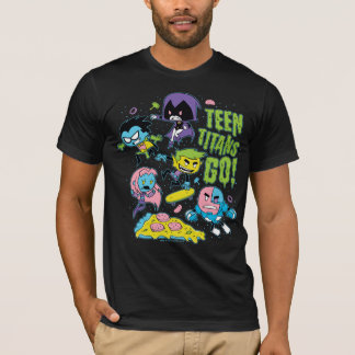 Teen Titans Go! | Gnarly 90's Pizza Graphic T-Shirt