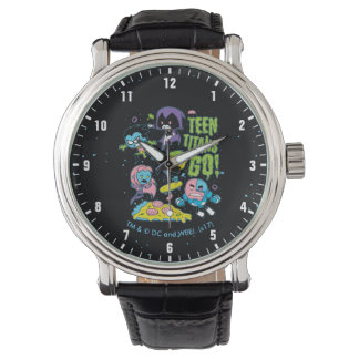 Teen Titans Go!   Gnarly 90's Pizza Graphic Watch