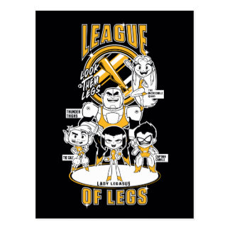 Teen Titans Go! | League of Legs Postcard