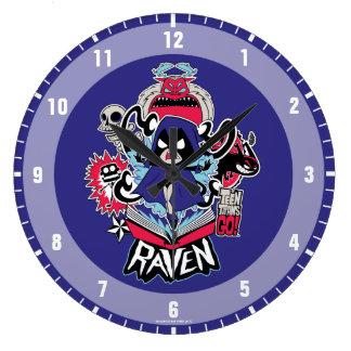 Teen Titans Go! | Raven Demonic Powers Graphic Large Clock