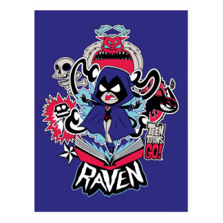 Teen Titans Go! | Raven Demonic Powers Graphic Postcard