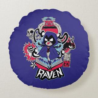 Teen Titans Go! | Raven Demonic Powers Graphic Round Pillow